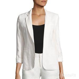 Joie Mehira White Linen Blazer